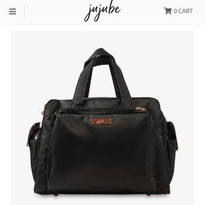Jujube Be Prepared Diaper bag -Black w/Gold